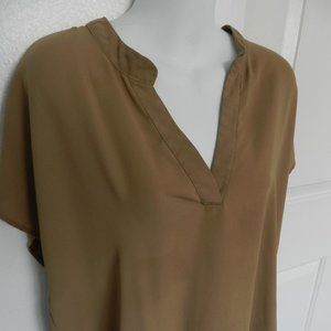 Forever 21 caramel color light rayon tunic top